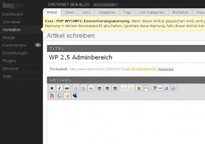 Das PLugin WP-Fluency-Admin in Action